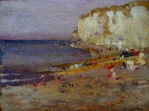 On The Beach at Dieppe