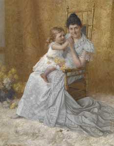 Portrait of Martha Wysor Marsh and Son, John Edwin