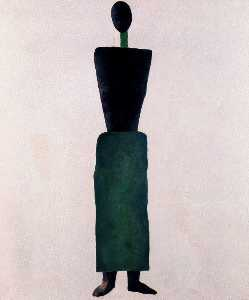 Suprematism Female Figure