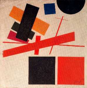 Suprematism. Nonobjective Composition