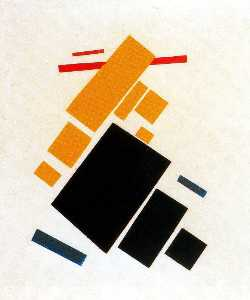 Suprematist Painting, Aeroplane Flying
