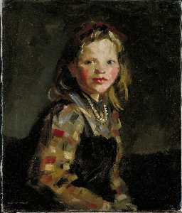 Portrait of a Girl, Checkered Blouse
