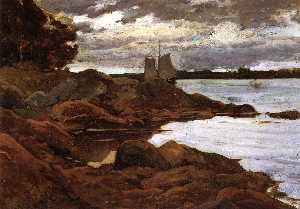 Close of Day on the Maine Shore