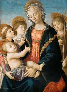The Virgin and Child with Two Angels and the Young St John the Baptist
