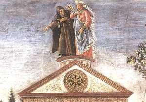 Three Temptations of Christ (detail 5) (Cappella Sistina, Vatican)
