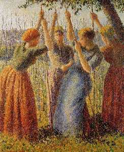 Peasants Planting Pea Sticks