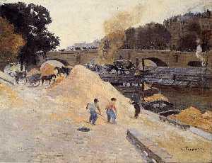 The Banks of the Seine in Paris, Pont Marie, Quai d'Anjou