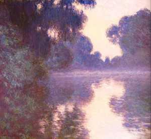 Misty morning on the Seine blue