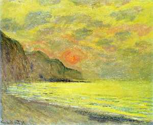Sunset, Foggy Weather, Pourville