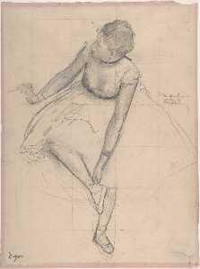 Dancer Adjusting Her Slipper 1