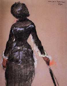 Mary Cassatt at the Louvre (study)