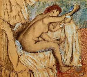 Woman Drying Herself 1