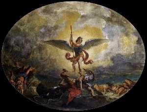 San Miguel vencedor del demonio