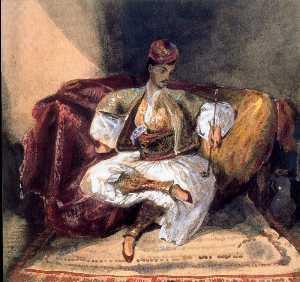 Seated Turk Smoking