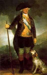 Carlos IV dressed as a hunter