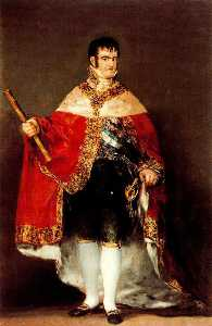 Fernando VII with royal mantle