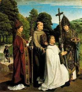 Canon Bernardinus de Salviatis and Three Saints