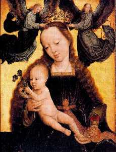 The Virgin and Child with two angels crowning her