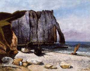 The Cliff at Etretat, the Porte d'Avale
