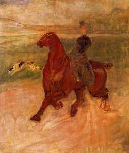 Horsewoman and Dog