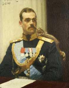 Portrait of member of State Council Grand Prince Mikhail Aleksandrovich Romanov. Study