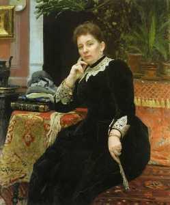 Portrait of O. S. Aleksandrova-Geins