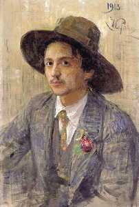 Portrait of the painter Isaak Izrailevich Brodsky