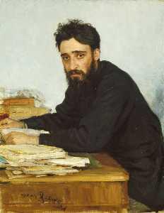作家フセヴォロドミハイロヴィチガルシンの肖像