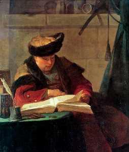 Portrait du pittore De joseph Aved , dit also le souffleur