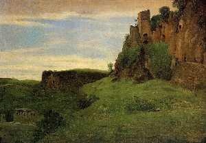 Civita Castelland - Buildings High in the Rocks (aka La Porta San Salvatore)