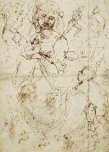Study for the Madonna with the Fruitbasket