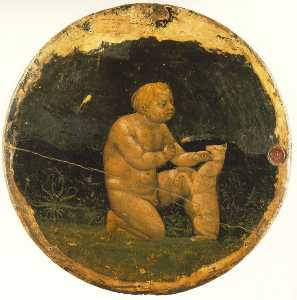 Putto and a Small Dog (back side of the Berlin Tondo)
