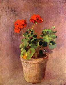 The Pot of Geraniums