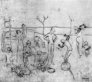 Los saltimbanquis (sketch)