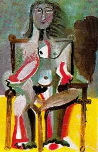 Nude Woman Sitting in an Armchair 2