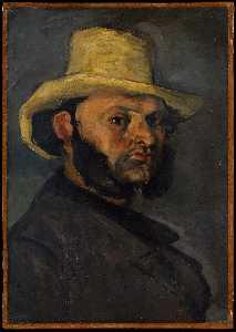Gustave Boyer in a Straw Hat