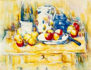 Still Life with Apples, a Bottle and a Milk Pot
