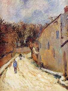 Osny, rue de Pontoise, Winter