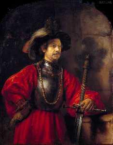 porträt von einem mann an  Militär  kleid