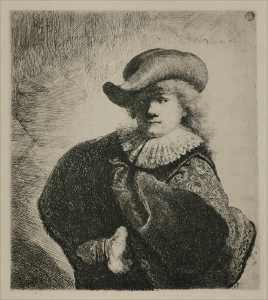 Portrait of Rembrandt with Broad Hat
