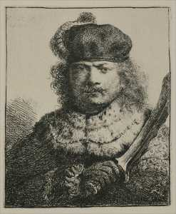 Rembrandt with a Drawn Saber