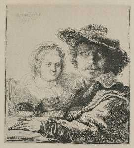 Rembrandt with his Wife