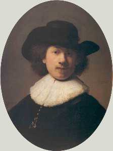 Self Portrait with a Wide-Brimmed Hat