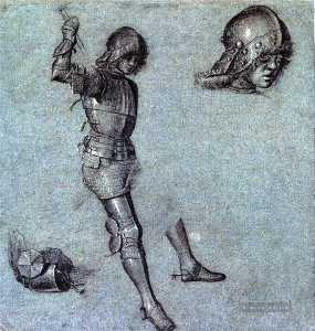 Three Studies of a Cavalier in Armor