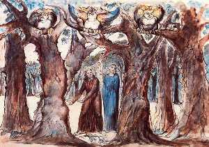 El bosque de los que se autodestruyen. las arpías y los suicidados