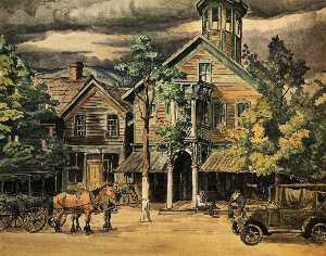 Old Taven At Hammondsville, Ohio