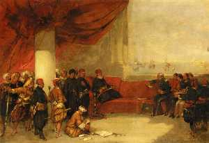 Interview with the Viceroy of Egype at His Palace in Alexandria