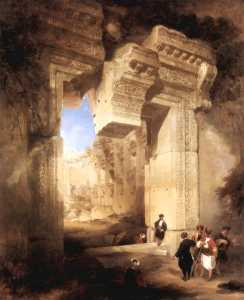 The Gateway Of The Great Temple At Baalbec