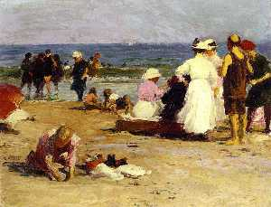 Bathers in the Surf