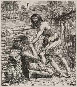 Moses Slaying The Egyptians